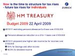 now is the time to structure for tax rises future tax rises for individuals