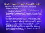 sex hormones in male sexual behavior