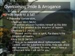 overcoming pride arrogance1