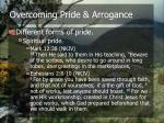 overcoming pride arrogance7