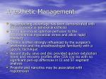 anesthetic management