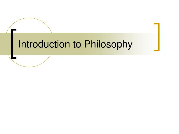introduction to philosophy n.