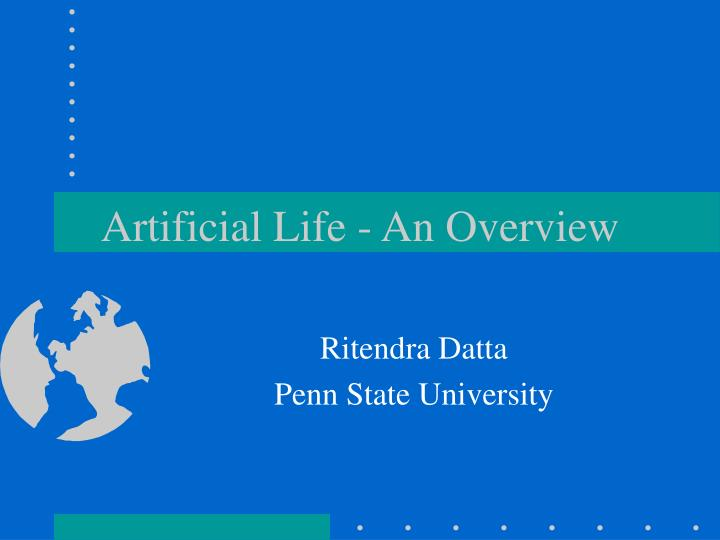 artificial life an overview n.
