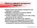 what is a collection management policy for