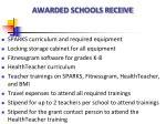 awarded schools receive