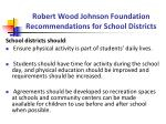 robert wood johnson foundation recommendations for school districts