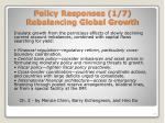 policy responses 1 7 rebalancing global growth