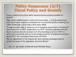 policy responses 2 7 fiscal policy and growth