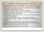 policy responses 4 7 rethinking growth and the state