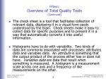 fifteen overview of total quality tools continued1