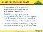 on line discussion phase