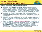 phase 1 application city of genoa april may 2007