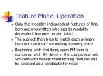 f eature model operation2
