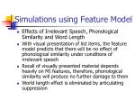 simulations using feature model1