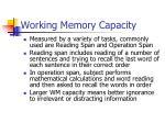 working memory capacity1