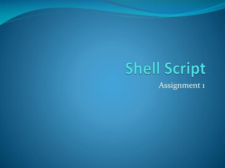 shell script n.