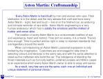 aston martin craftsmanship
