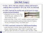 john hall gauges