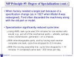 mp principle 5 degree of specialization cont1