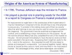 origins of the american system of manufacturing