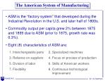 the american system of manufacturing