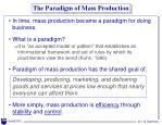 the paradigm of mass production