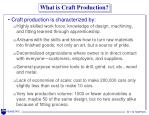 what is craft production