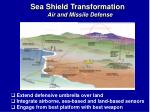sea shield transformation air and missile defense