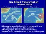 sea shield transformation undersea warfare