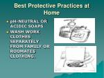 best protective practices at home1