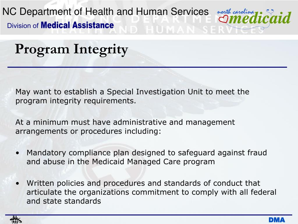 PPT - Program Integrity: Medicaid Managed Care (1915 b/c