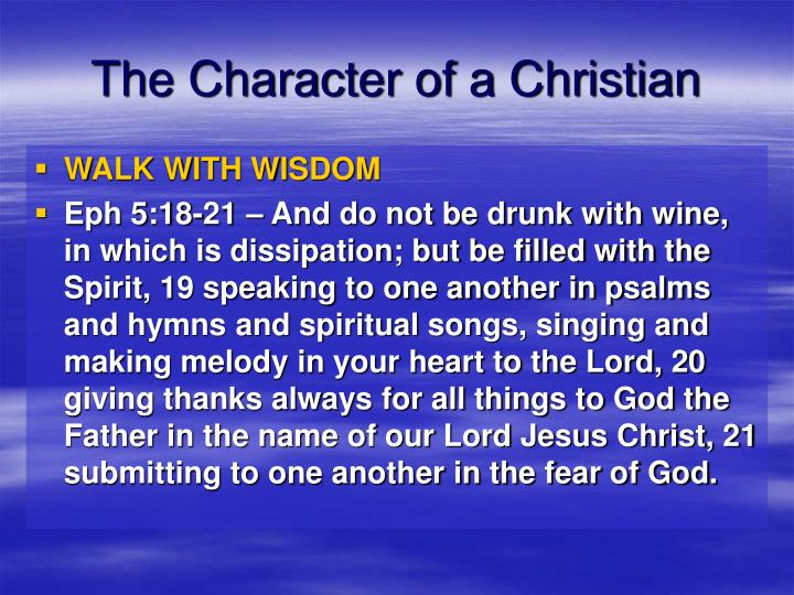The Character of a Christian