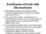 fortification of foods with micronutrients