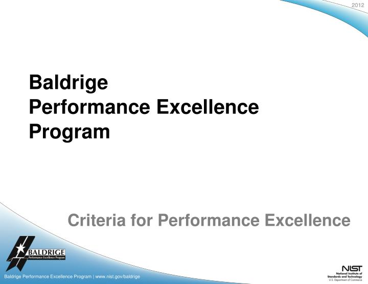 criteria for performance excellence n.