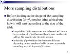 more sampling distributions