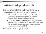 statistical independence 1