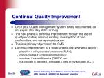 continual quality improvement