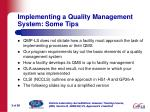 implementing a quality management system some tips