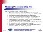 mapping processes step two