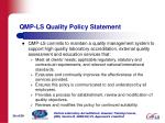 qmp ls quality policy statement