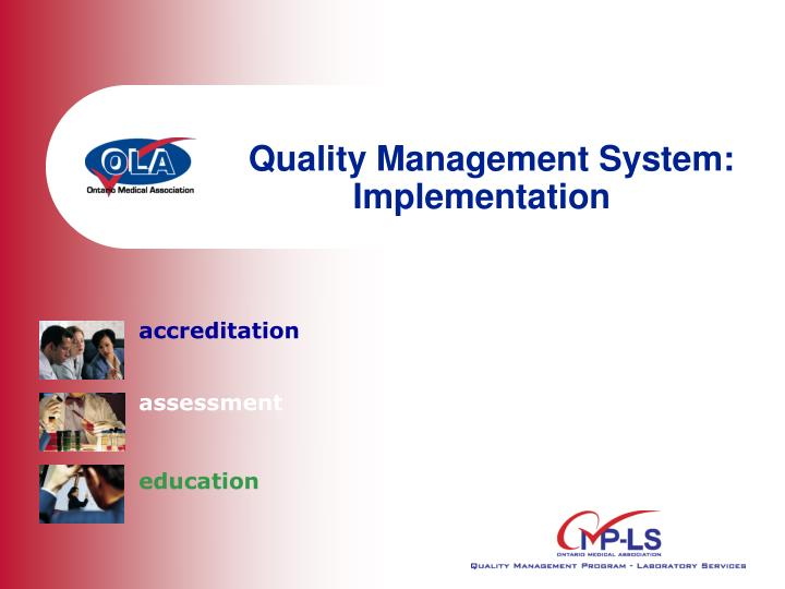 quality management system implementation n.
