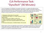cla performance task dynatech 90 minutes
