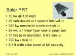 solar prt1