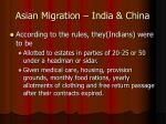 asian migration india china