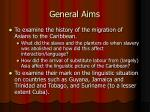 general aims