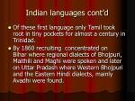 indian languages cont d