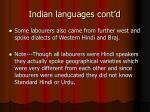 indian languages cont d1