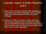 linguistic impact of indian migration cont d1