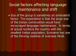 social factors affecting language maintenance and shift1