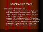 social factors cont d1